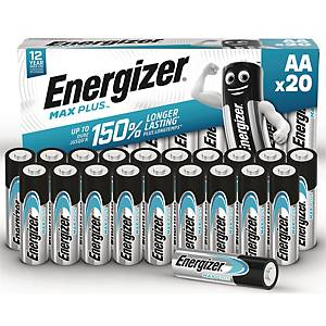 Batterier Energizer Alkaline Max Plus AA, förp. med 20 st.