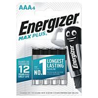 Batterier Energizer Alkaline Max Plus AAA, pakke a 4 stk.