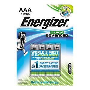 Pack de 4 pilhas alcalinas Energizer Max Plus AAA/LR3