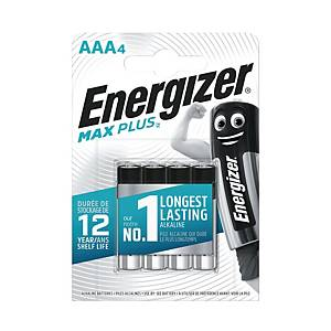 ENERGIZER ALKALINE MAX PLUS AAA BATTERY - PACK OF 4