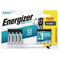 Batterier Energizer Alkaline Max Plus AAA, pakke a 8 stk.