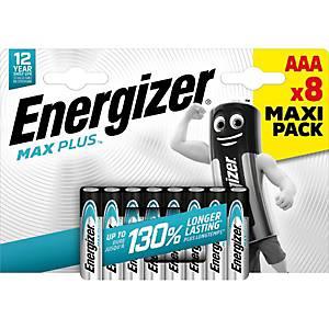 Batterie Energizer 638900, Micro, LR03/AAA, 1,5 Volt, ECO MAX PLUS, 8 Stück