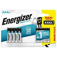 Pile alcaline Energizer Max Plus AAA, les 8 piles
