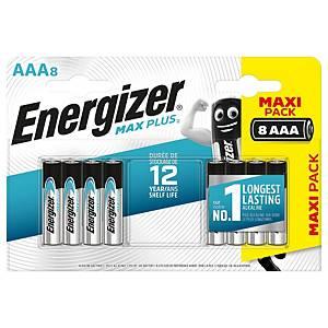 Energizer Max Plus AAA alkaline batterij, per 8 batterijen
