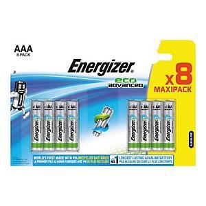 Pack de 8 pilhas alcalinas Energizer Max Plus AAA/LR3