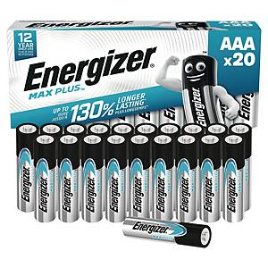 Baterie Energizer MAX PLUS, typ AAA, 20 ks v balení