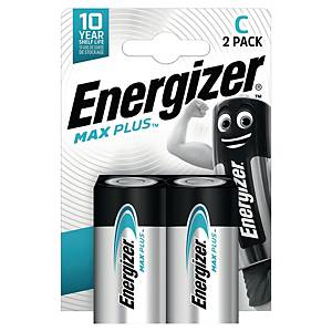 Energizer Max Plus C alkaline batterij, per 2 batterijen