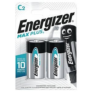 Batterier Energizer Alkaline Max Plus C, pakke a 2 stk.