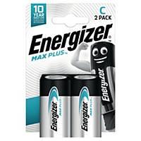 Pile alcaline Energizer Max Plus C, les 2 piles