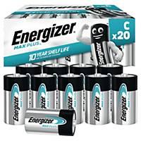 Piles Energizer Max Plus C, LR14/E93/AM2/Baby, paq. 20unités