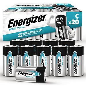 Batterier Energizer Alkaline Max Plus C, pakke a 20 stk.
