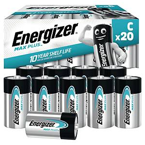 Energizer Alkaline Max Plus C Battery - Pack of 20