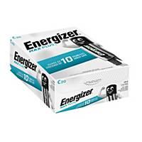 Pile alcaline Energizer Max Plus C, les 20 piles