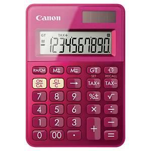 Taschenrechner Canon LS-100K, 10-stellig Solar-/Batteriebetrieb, pink