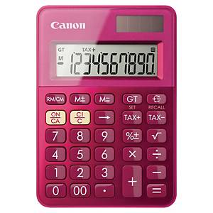 Pocket calculator Canon LS-100K, 10-digit display, pink