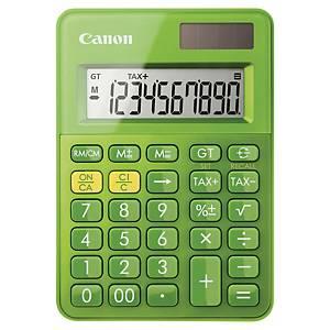 Taschenrechner Canon LS-100K, 10-stellig Solar-/Batteriebetrieb, grün