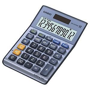 Calculatrice de bureau Casio MS-120TER II - 12 chiffres - métal/bleu