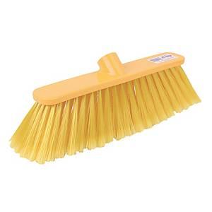 Yellow 28cm / 12 Inch Deluxe Broom Head Stiff