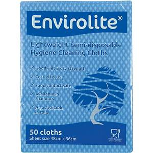 Blue Envirolite Folded Cloth Large - Pack of 50
