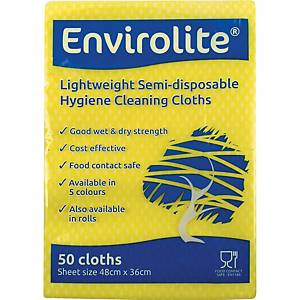 Yellow Envirolite Folded Cloth Large - Pack of 50
