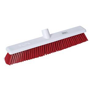 Abbey Red 45cm / 18 Inch Hygiene Broom Head Stiff