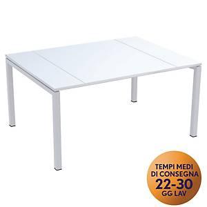 Tavolo riunione Easydesk Paperflow L 150 x P 114 x H 75 cm bianco