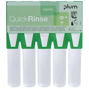 Øjenskyl Plum QuickRinse, pakke a 5 x 20 ml