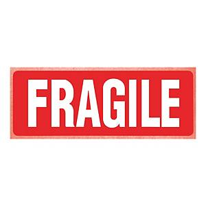 Printed Labels Fragile 150X100mm Pk250