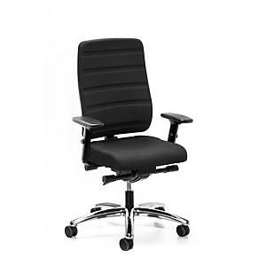 Prosedia Yourope Pro 4852 bureaustoel met synchroon mechanisme, stof, zwart