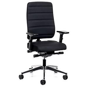 Chaise de bureau Prosedia Yourope, dossier haut, noir