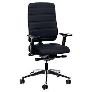 Yourope Pro Black Synchron High Back Chair - Arms Not Included