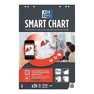 Oxford Smartcharts luentotaululehtiö 65 x 99cm blanko, 1 kpl=3 nidettä
