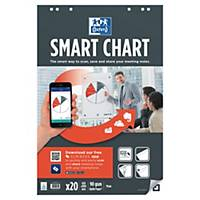 Pack 3 recargas de 30 folhas para quadro Oxford Smartchart - 650 x 980 mm
