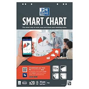 Blädderblock Oxford Smart Charts, olinjerat, 65 x 99cm, förp. med 3 st