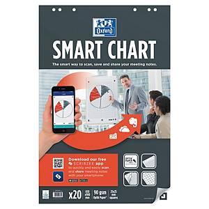 Blädderblock Oxford Smart Charts, rutat, 65 x 99cm, förp. med 3 st