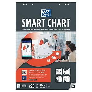 Blocco per lavagne a fogli mobili Oxford Smart Chart bianco 30 fogli - conf. 3