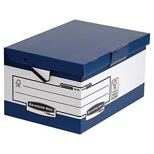 Archivbox Fellowes 0048901 System, Maße: 37,8 x 29,3 x 54,5cm, 10 Stück, blau