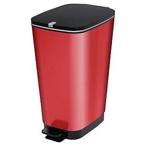 Poubelle plastique à pédale Cep Kis - 45 L - rouge