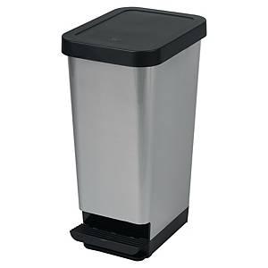 Affaldscontainer Cep, med pedal, 45 L, sort