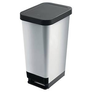 Odpadkový kôš CEP s pedálom sivý  45 l