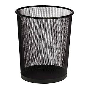 SaKOTA Papierkorb aus Drahtmetall, 18 l, schwarz