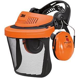 3M G500 verkkovisiiriyhdistelmä Optime1-kuulonsuojaimilla