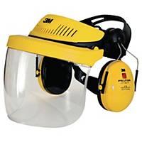 Coiffe 3M G500 à visière polycarbonate et coquilles anti-bruit