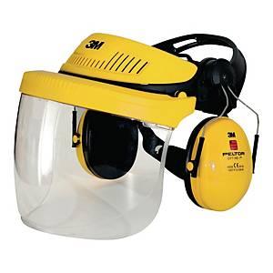 3M G500 Headgear combination yellow - Faceshield SF-11 + Peltor Optime I earmuff