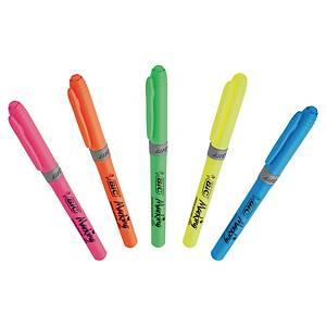 Bic Textmarker, 5 Farben