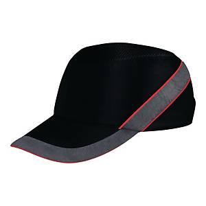 Deltaplus Air Coltan stootpet, zwart/rood