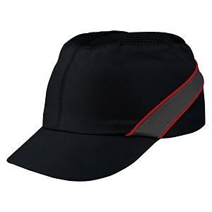 Przemysłowy hełm lekki DELTA PLUS AIR COLTAN, czarno-czerwony