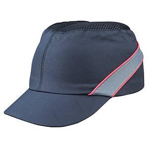 Gorra protectora tipo béisbol Deltaplus Air Coltan - negro / rojo