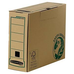 Scatola archivio Bankers Box Earth manuale A4+ dorso 10 cm avana - conf. 20