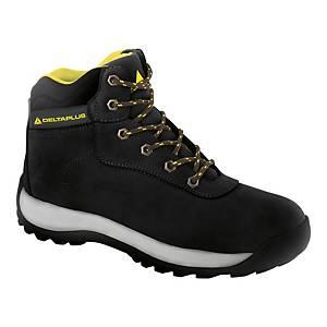 Bezpečnostná členková obuv Deltaplus Saga, S3 HRO SRC, veľkosť 44, čierna